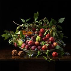 Available for sale from Robert Klein Gallery, Paulette Tavormina, Plums and Chinese Walnuts, after G.G. (2013), Archival digital pigment print, 36 × 36 in