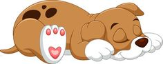 Illustration of Cute puppy cartoon sleeping vector art, clipart and stock vectors. Sleeping Puppies, Baby Puppies, Cute Puppies, Cute Dogs, Cartoon Dog, Cartoon Images, Cute Cartoon, Cute Puppy Photos, Puppy Images