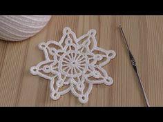 Crochet Snowflakes How to crochet snowflake – YouT … – Snowflakes World Crochet Snowflake Pattern, Christmas Crochet Patterns, Crochet Ornaments, Crochet Buttons, Holiday Crochet, Crochet Snowflakes, Christmas Knitting, Crochet Home, Crochet Diagram