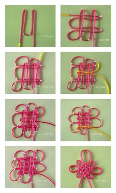 Picture tutorial for flower like knot