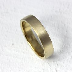 18k gold wedding band by PraxisJewelry on Etsy