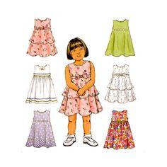 Toddler Sleeveless Dress Pattern Butterick by RedcurlzsPatterns