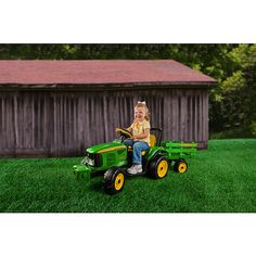 "Peg Perego John Deere Farm Power Tractor and Trailer - Peg Perego - Toys ""R"" Us"