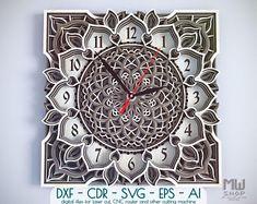 11 Ideas De Relojmandalas Disenos De Unas Reloj Relojes De Pared