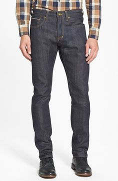 Men's PRPS 'Demon' Slim Straight Leg Selvedge Jeans (Raw)
