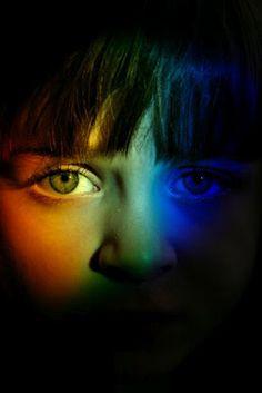 Rainbow face!