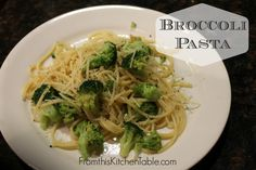 Broccoli Pasta - From This Kitchen Table | Super easy and affordable and can be made in under 20 minutes.