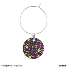 Floral patterns wine charm