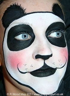 panda face paint make up pinterest fasching kost m und fasnacht. Black Bedroom Furniture Sets. Home Design Ideas