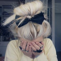 Fancy - Black Bow Hair Clip