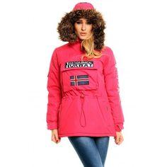 La parka canguro más femenina para la mujer es de Geographical Norway.  Ideal para la a56e464ec995