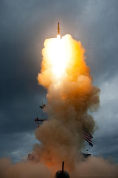 A Standard Missile-3 (SM-3) Block 1A interceptor is launched from the USS Decatur (DDG -73) during a successful intercept test. The USS Decatur with its Aegis Weapon System detected and tracked the target with its on board AN/SPY-1 radar. The test, conducted by Missile Defense Agency (MDA), Ballistic Missile Defense System (BMDS) Operational Test Agency, Joint Functional Component Command for Integrated Missile Defense, and U.S. Pacific Command,
