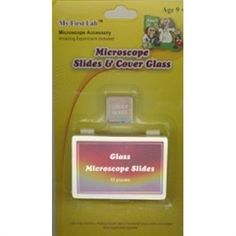 This kit includes 10 slides, cover glass, and a storage box. Also includes ideas for observation using a microscope.