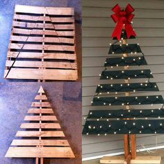 DIY pallet christmas tree!