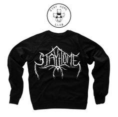 Black Metal Stay Home Crewneck Sweatshirt – Stay Home Club