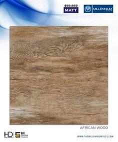 Great #floors with a great conscience.  African Wood - Millennium Tiles 800x800mm (32x32) Vitrified Matt XL Porcelain #Wood look #Tiles