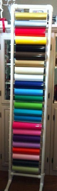 Vinyl storage on pinterest vinyls pvc pipes and wine racks for Diy vinyl storage