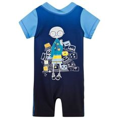 Little Marc Jacobs Blue Mr Marc Sunsuit