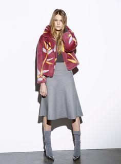 Byte by Giuliana Teso Floral Mink Fur Jacket