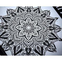 Brand New Mandala Design From Otheser! #mandala #geometry #geometrical #dotwork #blackwork #dotism #design