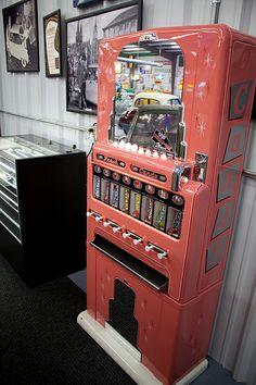 Pink Vintage Candy Vending Machine