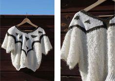sweater crop top vintage white khaki by JOYFRIPE on Etsy https://www.etsy.com/listing/249908117/sweater-crop-top-vintage-white-khaki