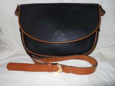 Bottega Veneta Black & Tan Cross Body Bag $150