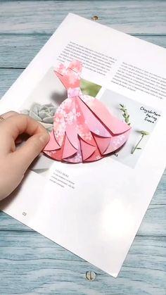 Cool Paper Crafts, Paper Crafts Origami, Diy Paper, Paper Folding Crafts, Diy Crafts Hacks, Diy Crafts For Gifts, Diy Crafts Videos, Diy Videos, Instruções Origami