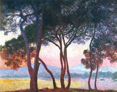 Juan-les-Pins by Claude Monet in oil on canvas, done in Now in a private collection. Find a fine art print of this Claude Monet painting. Monet Paintings, Impressionist Paintings, Landscape Paintings, Tree Paintings, Claude Monet, Ansel Adams, Variety In Art, Artist Monet, Juan Les Pins