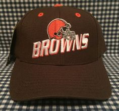 afe048894 NWT Vintage Cleveland Browns Adjustable Fit SnapBack Hat Logo Athletic VTG  NOS