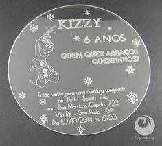 Novo convite Frozen Olaf