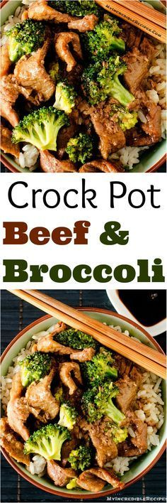Slow Cooker Beef & Broccoli! - This blogger says that they have tried several versions of this recipe and that THIS IS THE BEST!