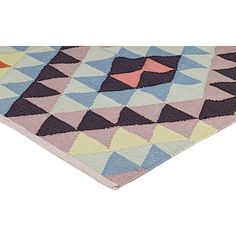Our LALA rug, in PET. Coloured kelim, ideal for the outside - UV treated.