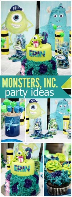 You have to see this Monsters Inc. birthday party! See more party ideas at CatchMyParty.com!