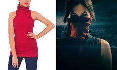 Elektra Turtleneck Sleeveless Top Netflix's Daredevil Outfit Cosplay