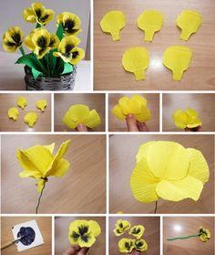 Paper Flowers Wedding, Tissue Paper Flowers, Paper Roses, Flower Paper, Handmade Flowers, Diy Flowers, Fabric Flowers, Giant Flowers, Sugar Flowers