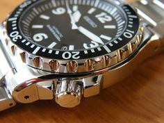 The Seiko Spork (I hate the name as well) is a great value watch with one of the clearest dials around. Big Watches, Seiko Watches, Watch Your Name, Diving Helmet, Seiko Diver, Geek Stuff, 3d Printing, Ocean, Accessories