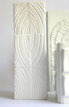 Rosenthal white porcelain vase designed by Martin Freyer c 1960s