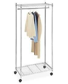 Whitmor Rolling Garment Rack with Shelves & Reviews - Cleaning & Organization - Home - Macy's