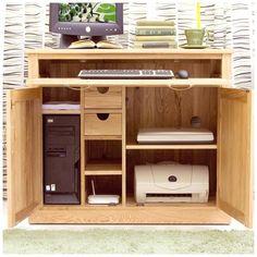 oak hidden home office computer desk oak furniture computer desks chadwick satin lacquered oak hidden home