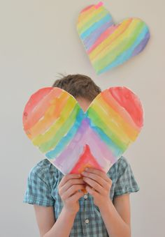 rainbow watercolor art
