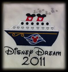 White Disney Cruise Vacation Tee by SewSweetBoutiqueLLC on Etsy, $23.99