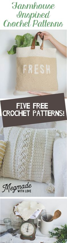 Five Free Farmhouse-Inspired Crochet Patterns — Megmade with Love