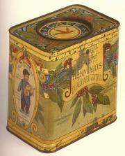 caixa de lata antiga