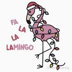'Christmas Flamingo' Kids Clothes by Kimberly Sterling Tropical Christmas, Christmas Rock, Beach Christmas, Coastal Christmas, Christmas In July, Pink Christmas, All Things Christmas, Christmas Flamingo, Christmas Crafts