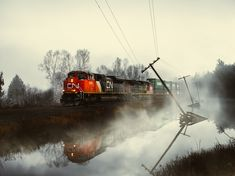 "CANADIAN NATIONAL locomotives - ""'Gloomy Train' - the last frame in my three set train series"""
