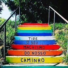 Vamos lutar juntxs contra o machismo. #lesbicas #lgbt #maisrespeito #maisamor #MachismoNAO #homofobiaNao #lesbofobiaNao #bifobiaNao #feminismo #mulheres