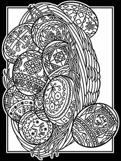 Easter egg coloring page with elegant patterns . Coloring adult easter eggs by basecampjonkoping. 16 Easter eggs to print and color : various styles & . Easter Egg Coloring Pages, Coloring Book Pages, Printable Coloring Pages, Coloring Pages For Grown Ups, Doodle Coloring, Tatoo Art, Colorful Drawings, Dover Publications, Stained Glass