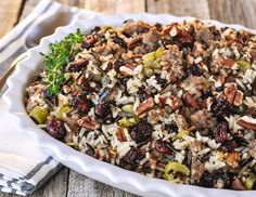 Wild Rice, Dried Cherry and Sausage Stuffing