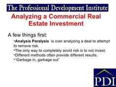 Pkg Commercial Real Estate Analysis  Investments  Business Real